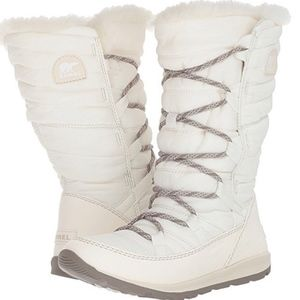 SOREL WHITNEY SEA SALT  QUILTED LACE UP SNOW BOOT